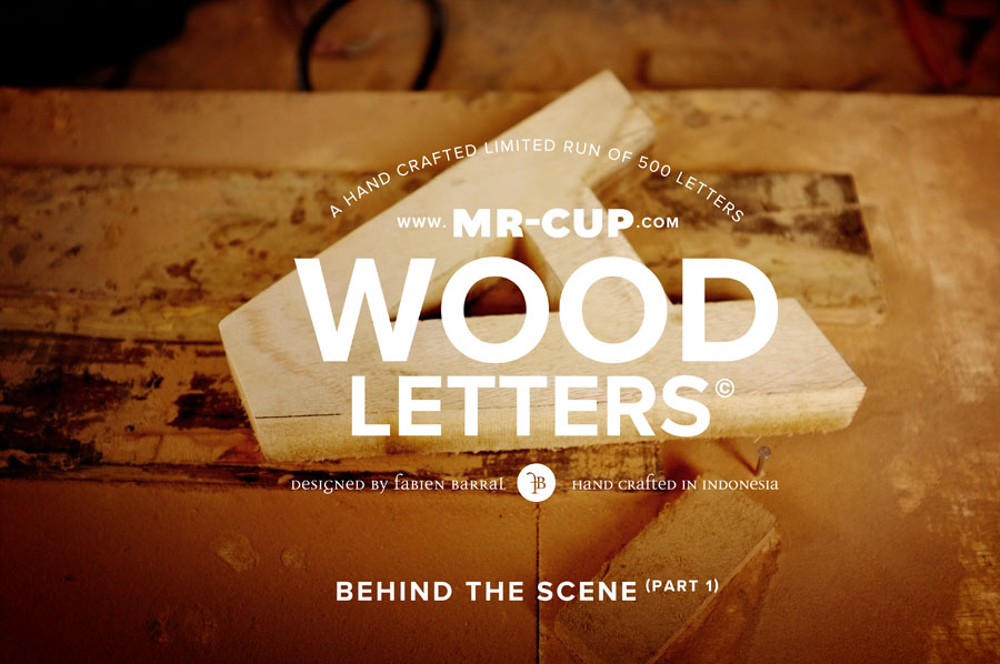 Mr Cup Wood Helvetica