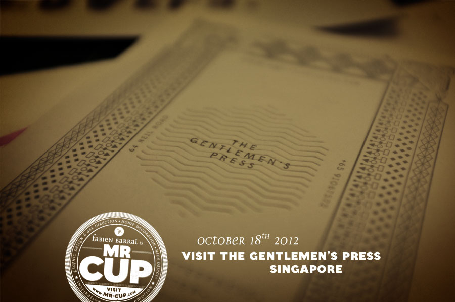 Mr Cup in Singapore / Nice to meet you : The gentlemen press