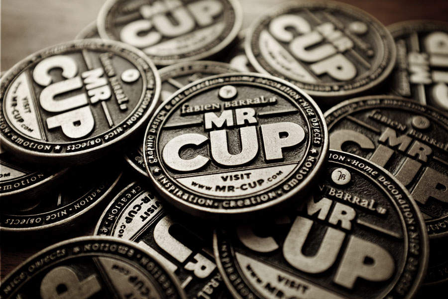 Mr Cup metal buisness card coin