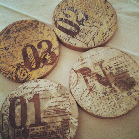 Wood coasters by mr-cup.com
