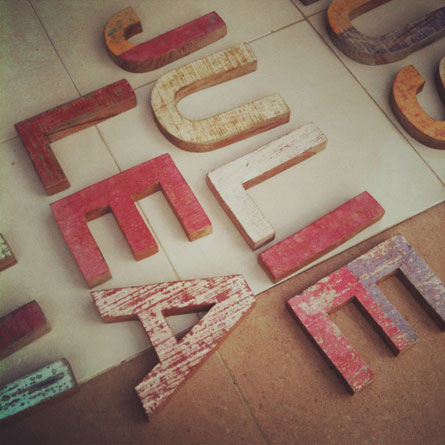 Wood letters by mr-cup.com