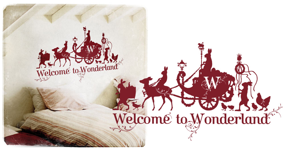 Wonderland wall sticker by www.mr-cup.com