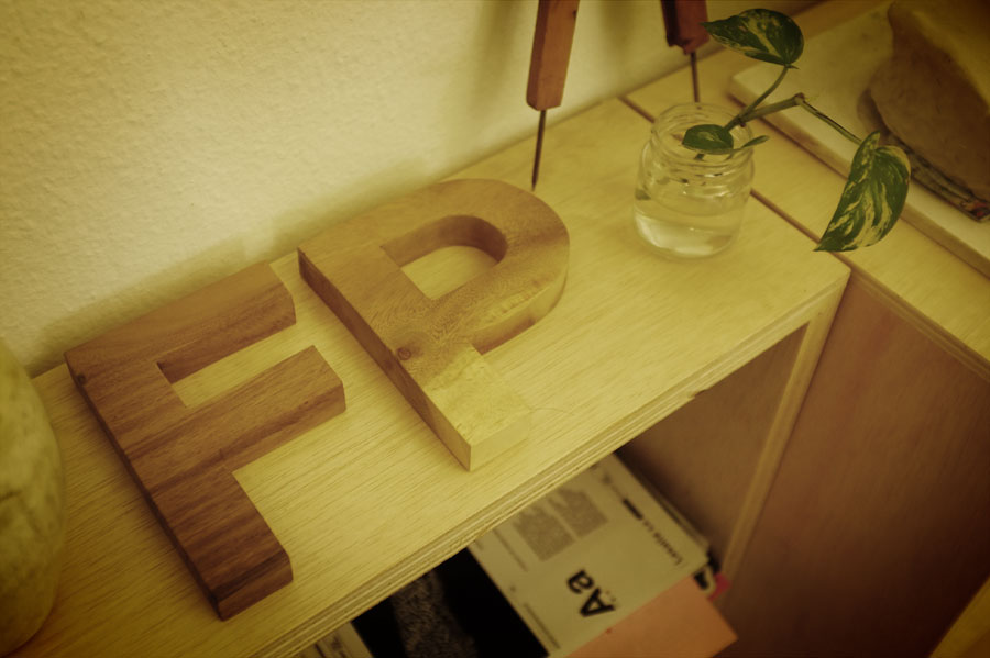 Helvetica raw wood letter by www.mr-cup.com