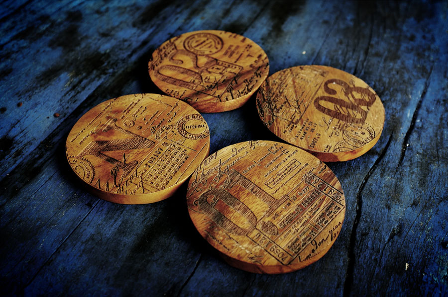 Wood coasters by www.mr-cup.com