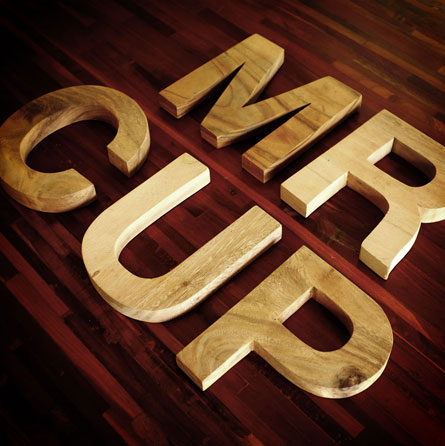 Wood Letters Collection 2 Suar raw wood by www.mr-cup.com