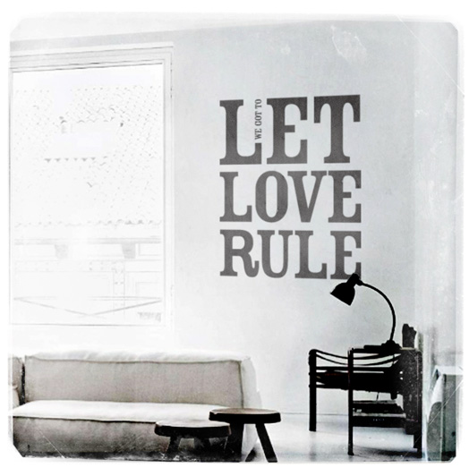 Let love rule - wall sticker - www.mr-cup.com