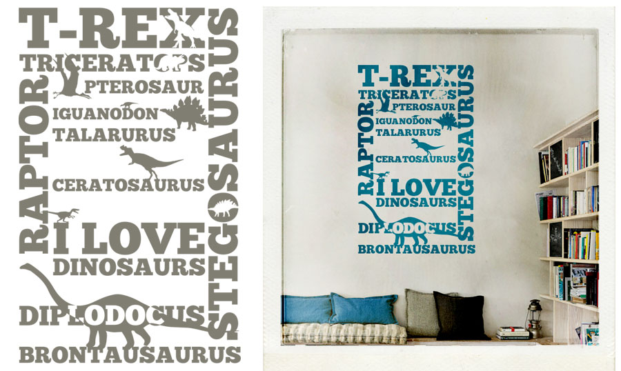 I love dinosaurs wall sticker at http://www.mr-cup.com/shop/created/wall-stickers/i-love-dinosaurs-detail.html