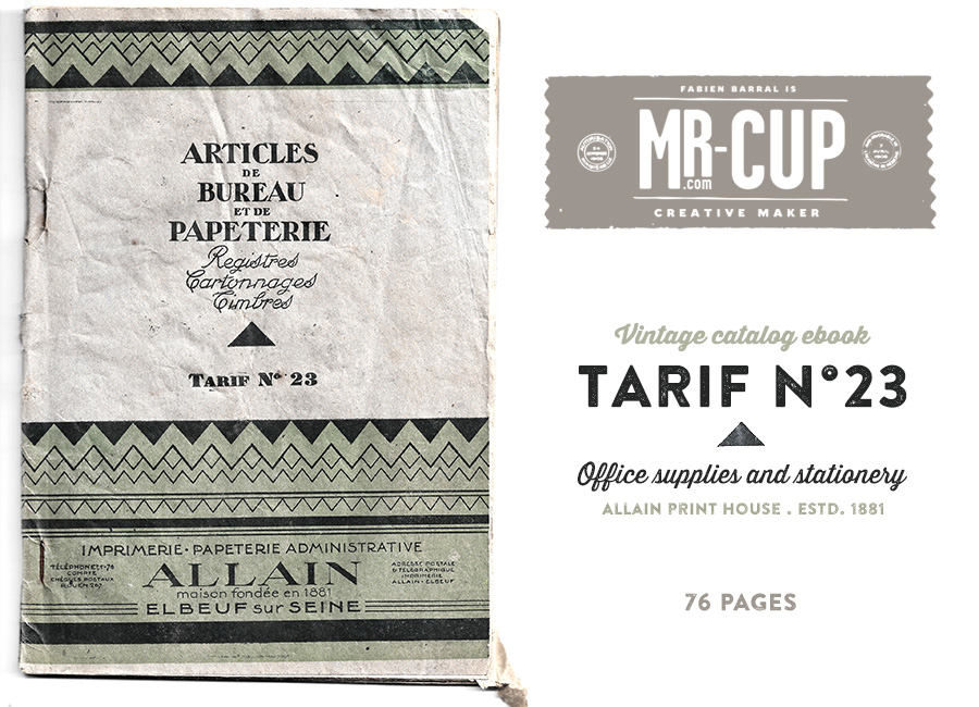 Tarif n23 - vintage catalog ebook by www.mr-cup.com