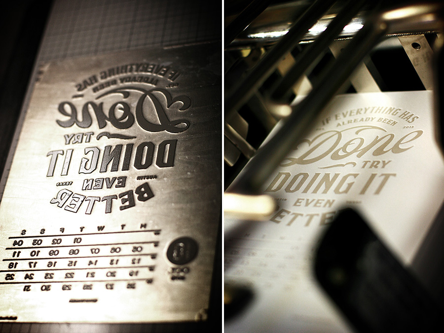 letterpress calendar printing . Available at www.mr-cup.com
