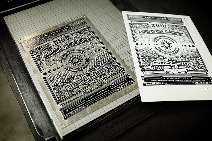 2015 letterpress calendar making of by www.mr-cup.com