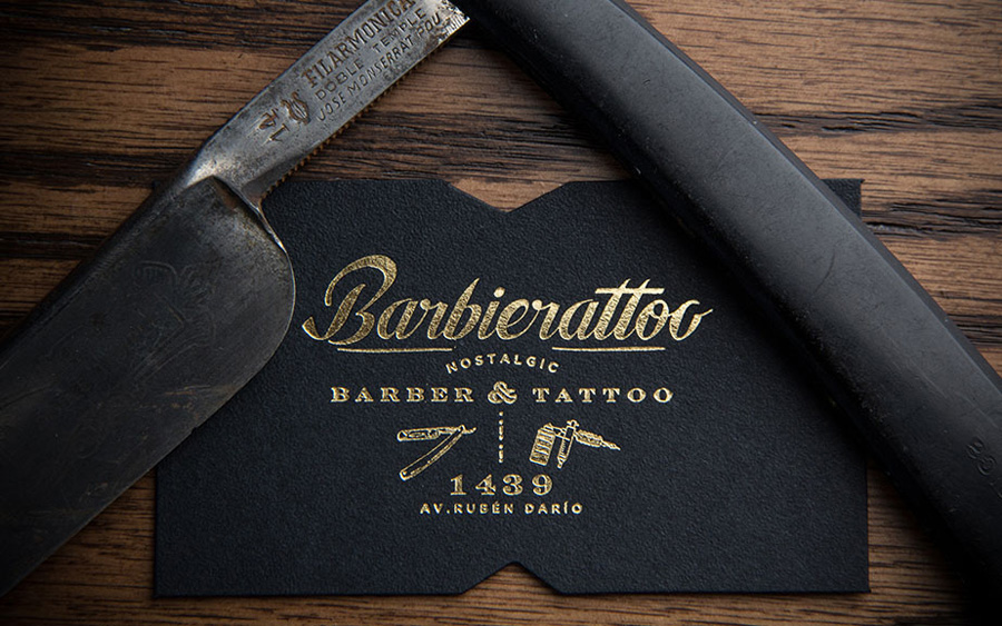barbiertattoo by Memela via www.mr-cup.com
