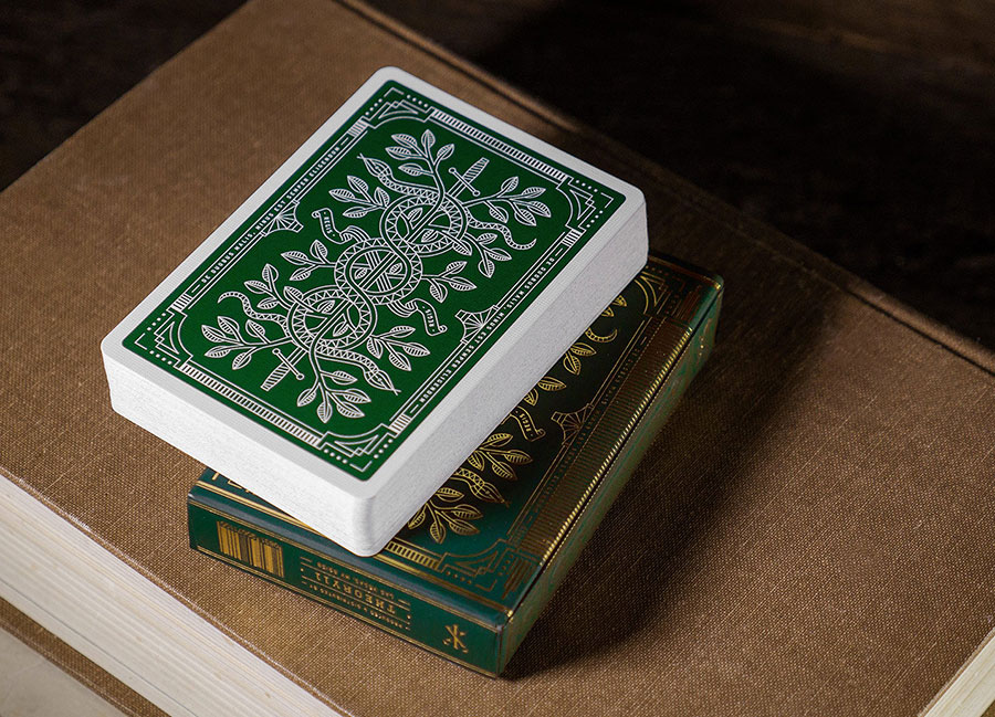 Blackfriday Green monarch limited edition playing cards deck www.mr-cup.com