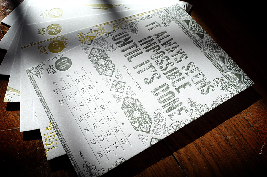 letterpress calendar bt www.mr-cup.com