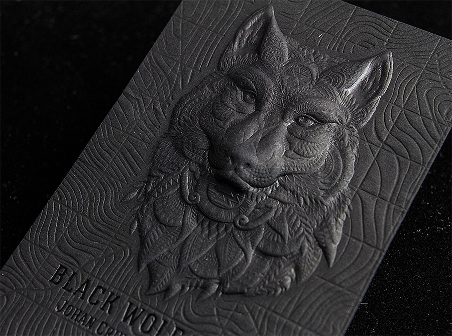 3D Embossed Business Cards by Jukebox via www.mr-cup.com