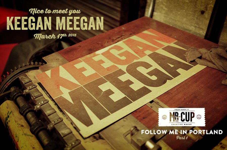 ?ice to meet you Keegan Meegan letterpress printer by www.mr-cup.com