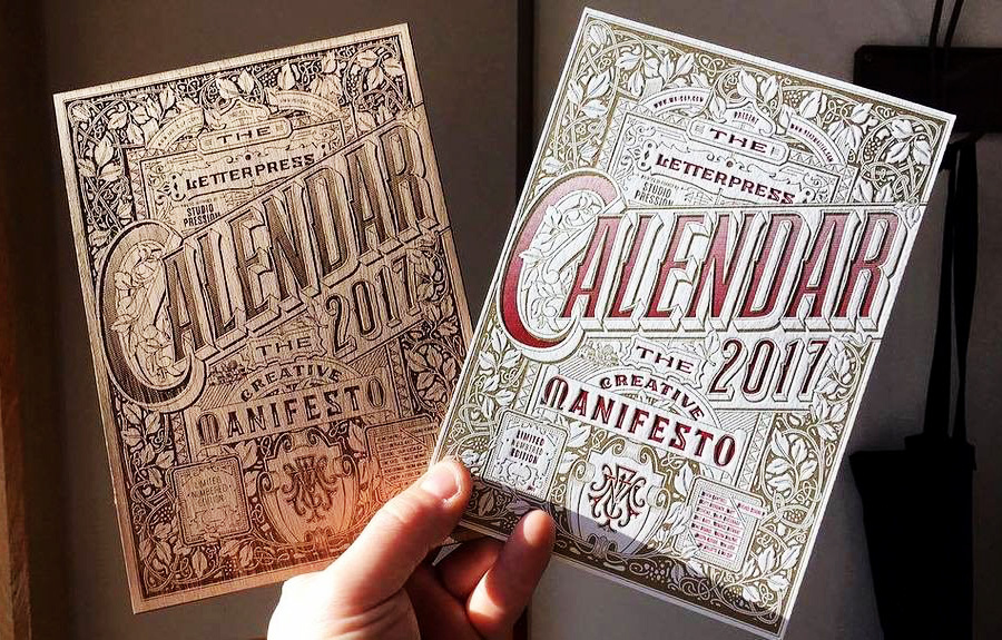 The letterpress calendar by mr-cup