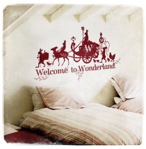 Welcome To Wonderland - Short - 70x120 in burgundy